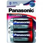 Батарейка Panasonic EVERYDAY POWER D BLI 2 ALKALINE	(LR20REE/2BR)